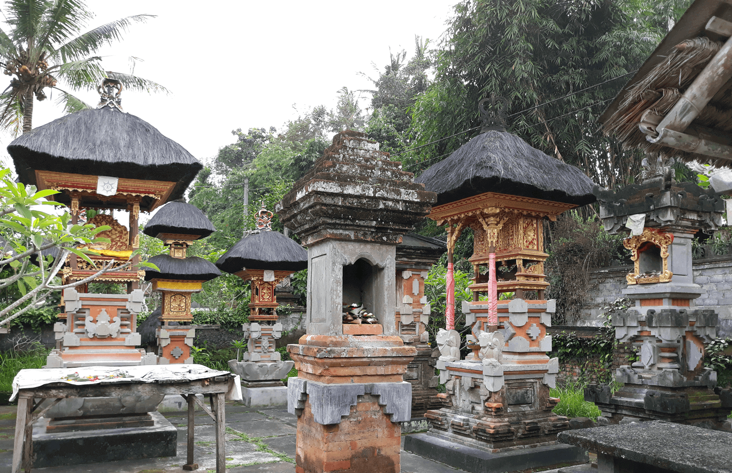 Balinese Family temple shrines